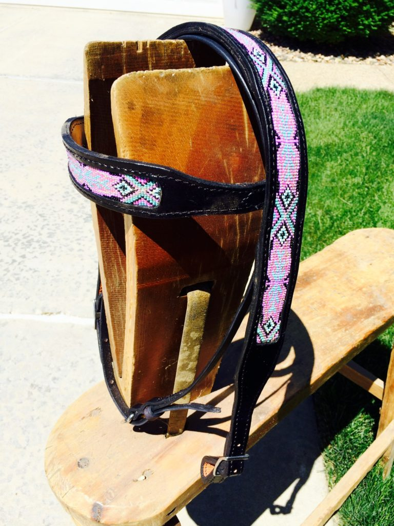 Black Beaded Bridle