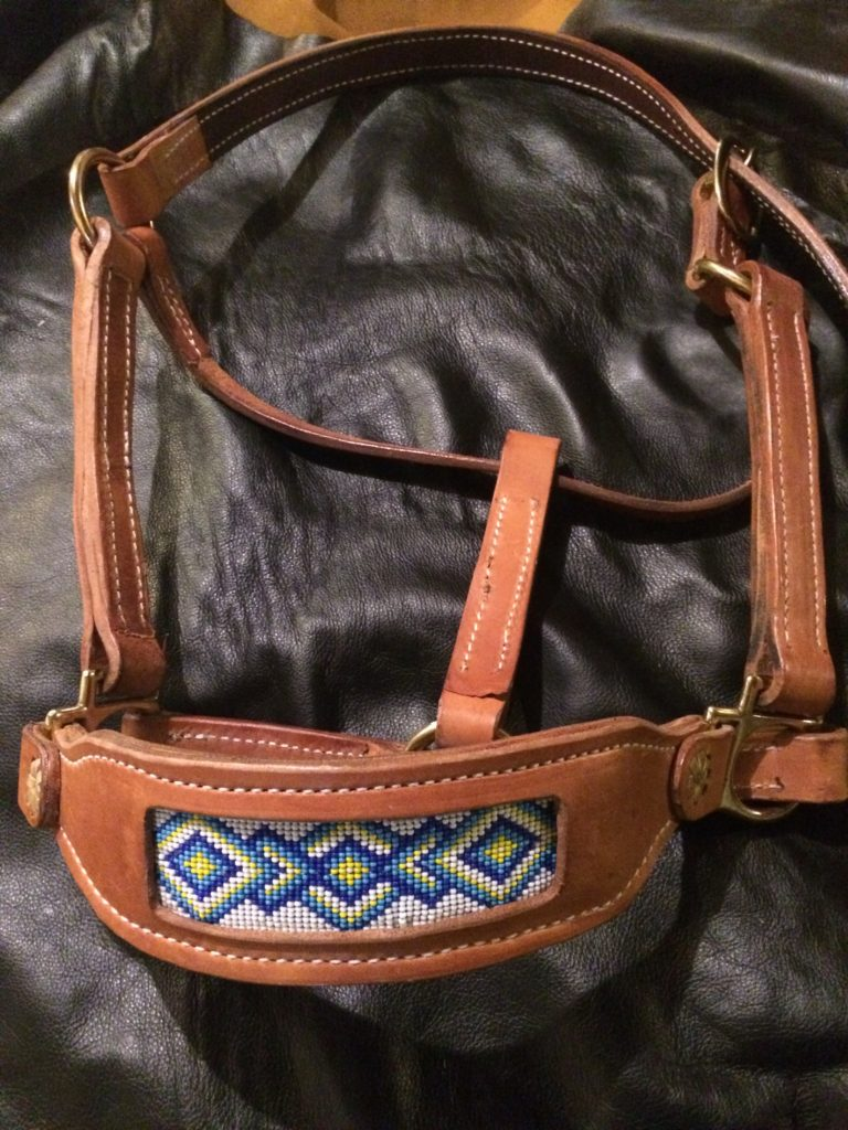 Tan Beaded Bridle