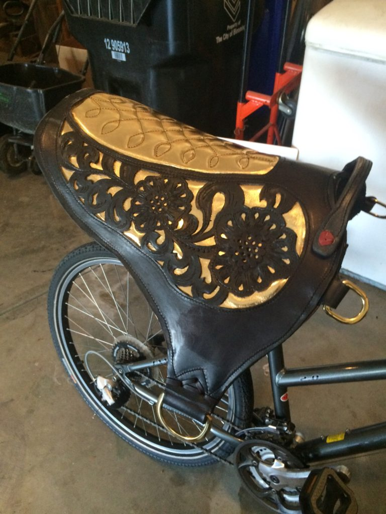 Black and Gold Roman Riding Pads